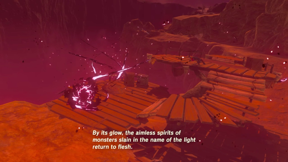Enemies respawn on screen while the blood moon rises in Breath of the Wild.