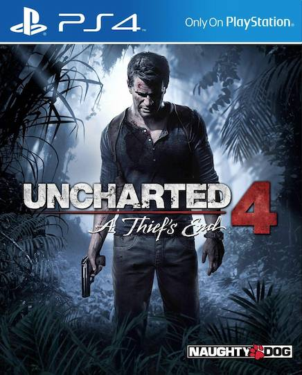 Uncharted 4 game box