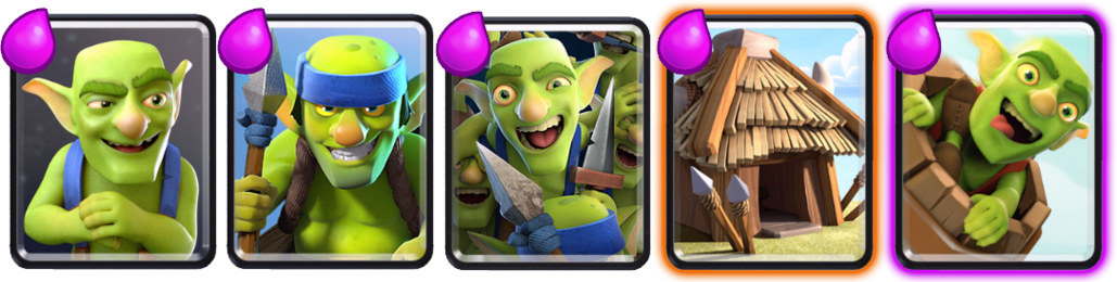 Goblin cards from Clash Royale