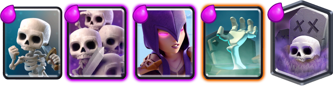 Skeleton cards from Clash Royale