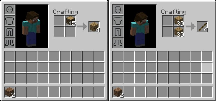minecraft how to make a stick