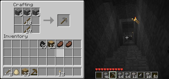 What can be done in the Maincraft of iron and where to apply