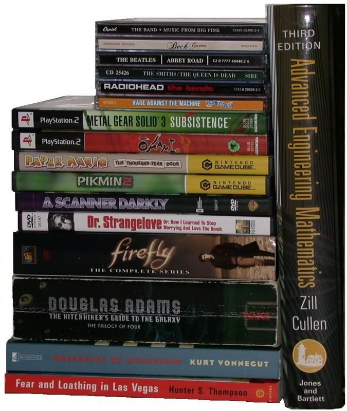 A Selection of Great Books, Movies & Games