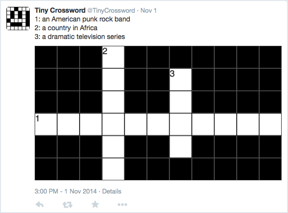 Tweets by @TinyCrossword
